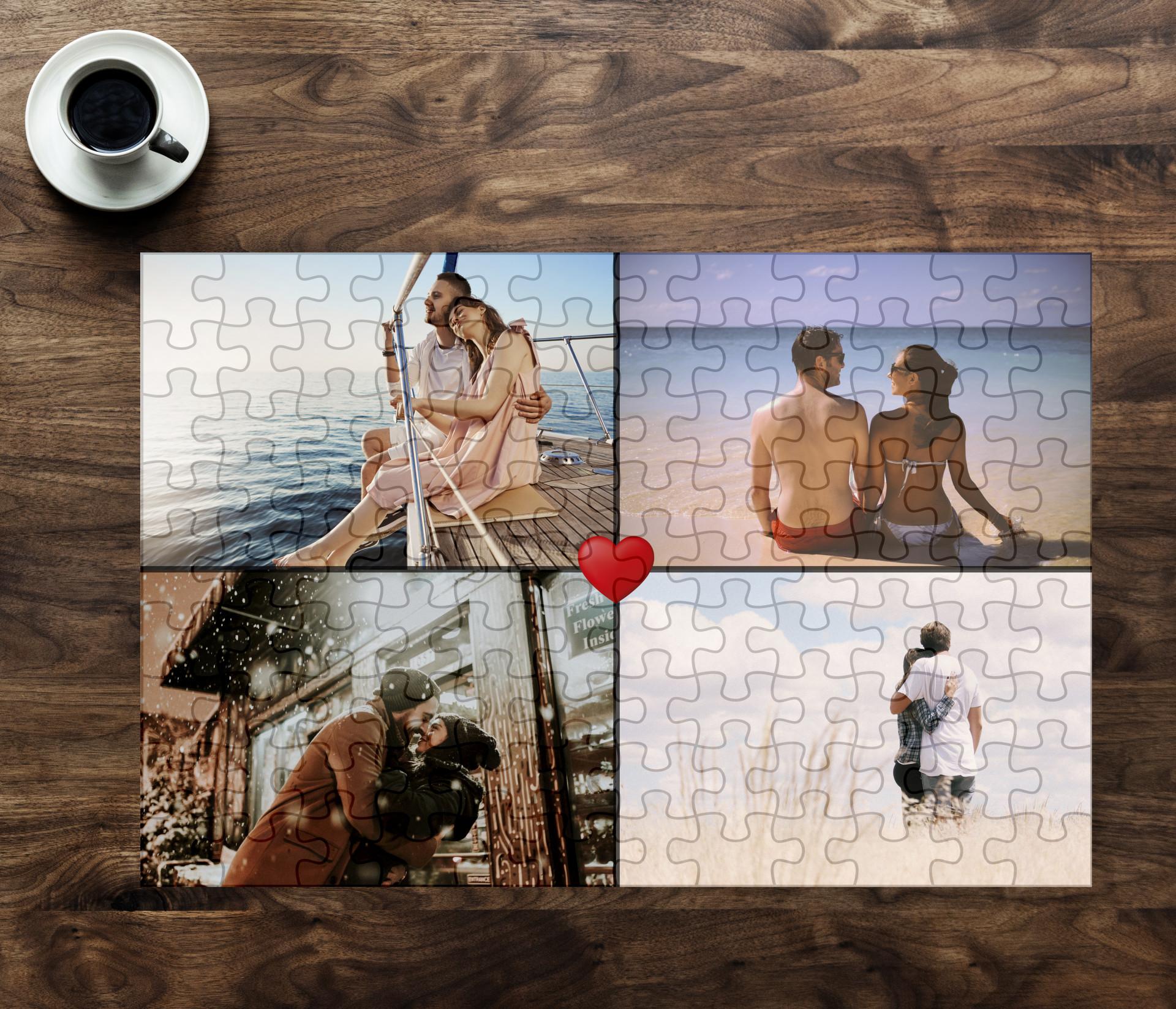 puzzle 4 imagini personalizat