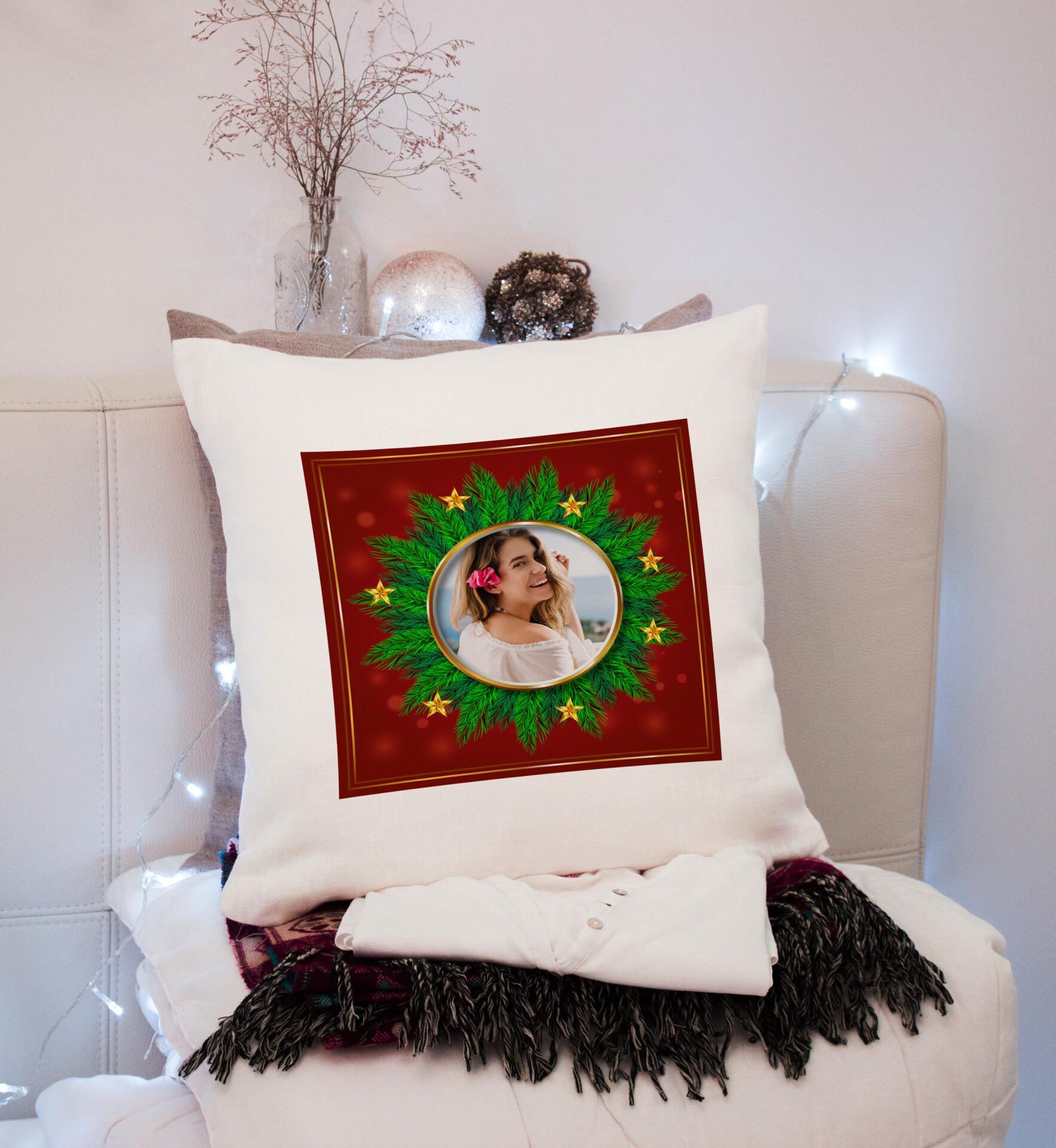 perna personalizata christmas cu poza