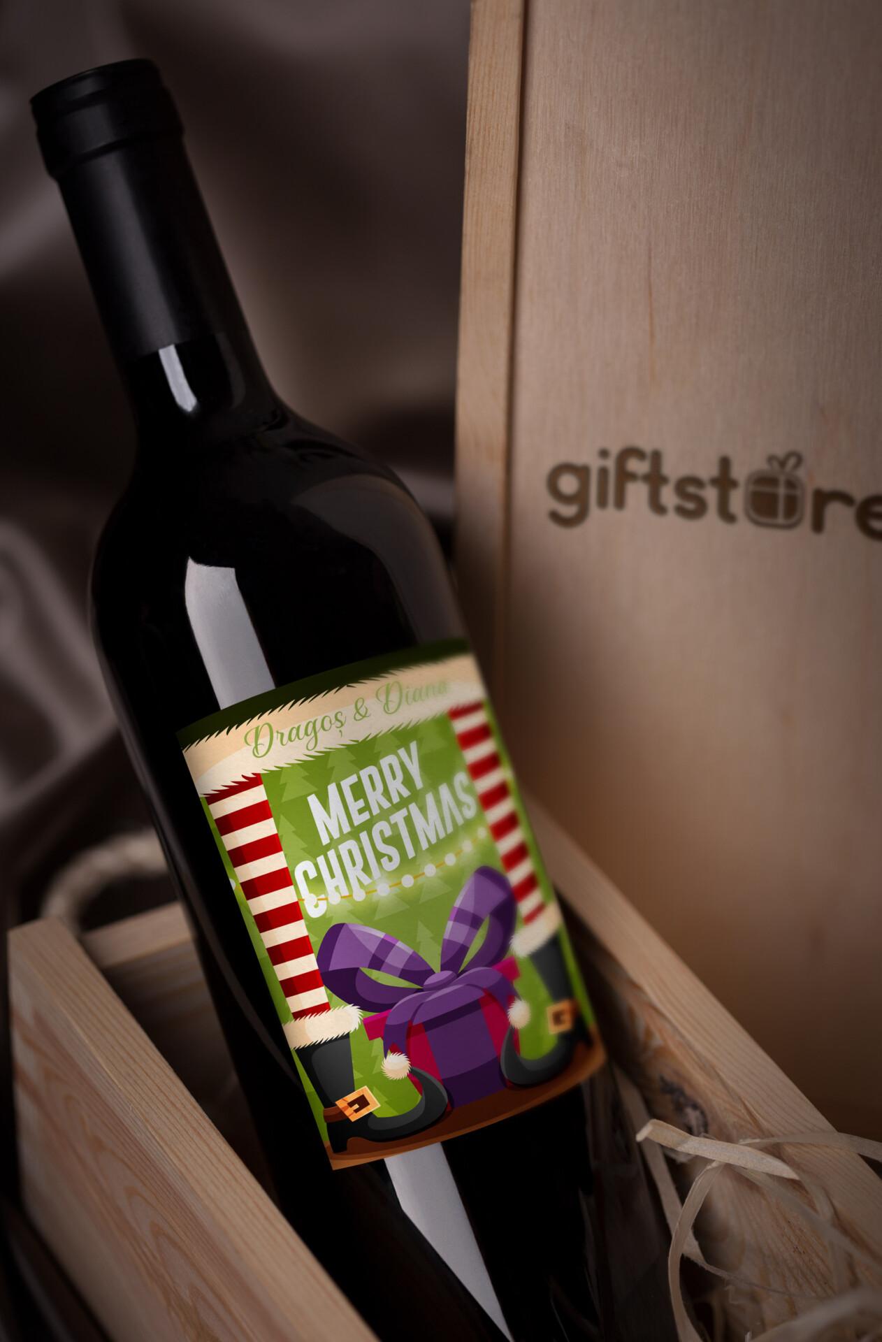 vin personalizat christmas cu nume