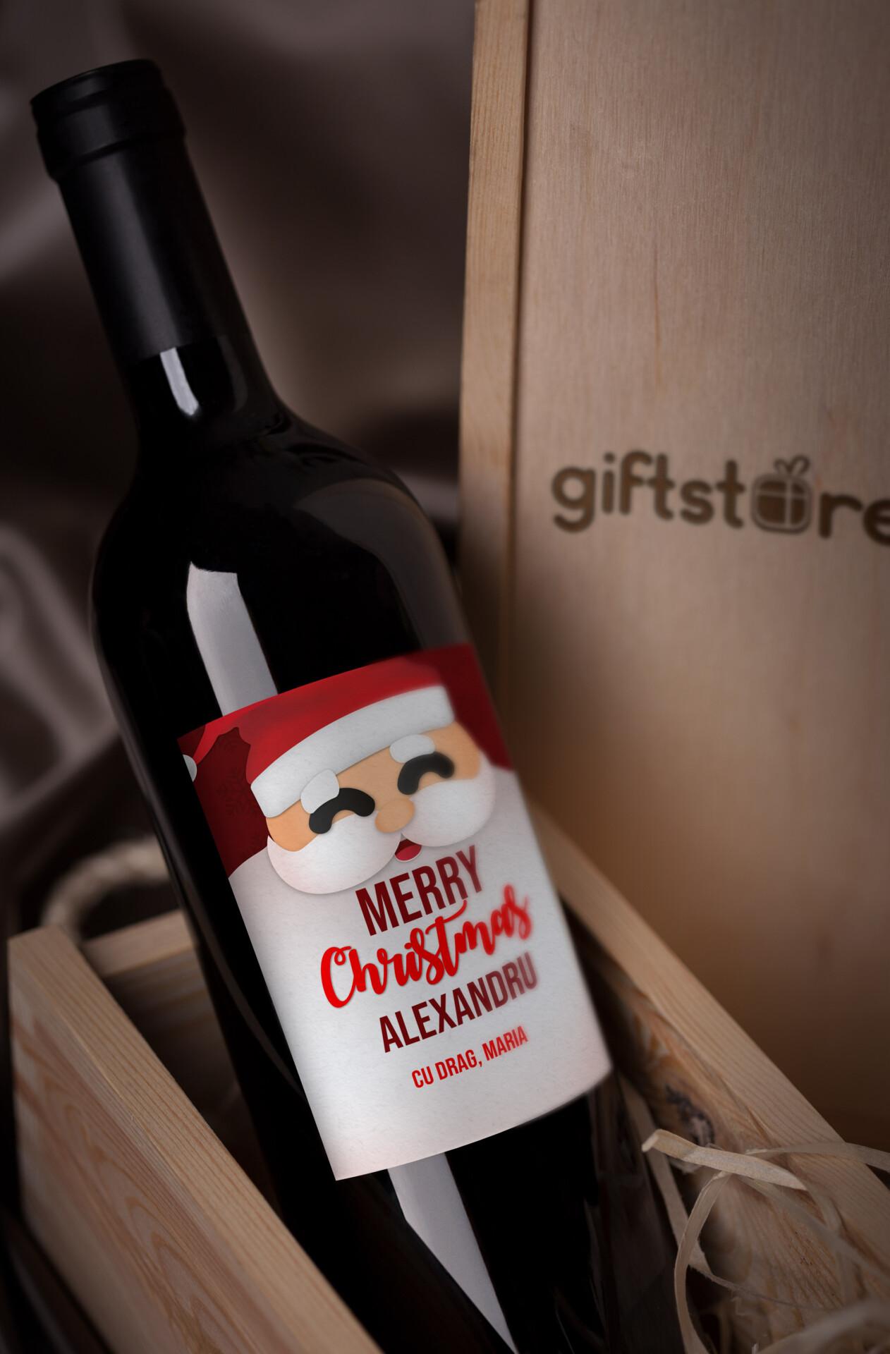 vin personalizat merry christmas