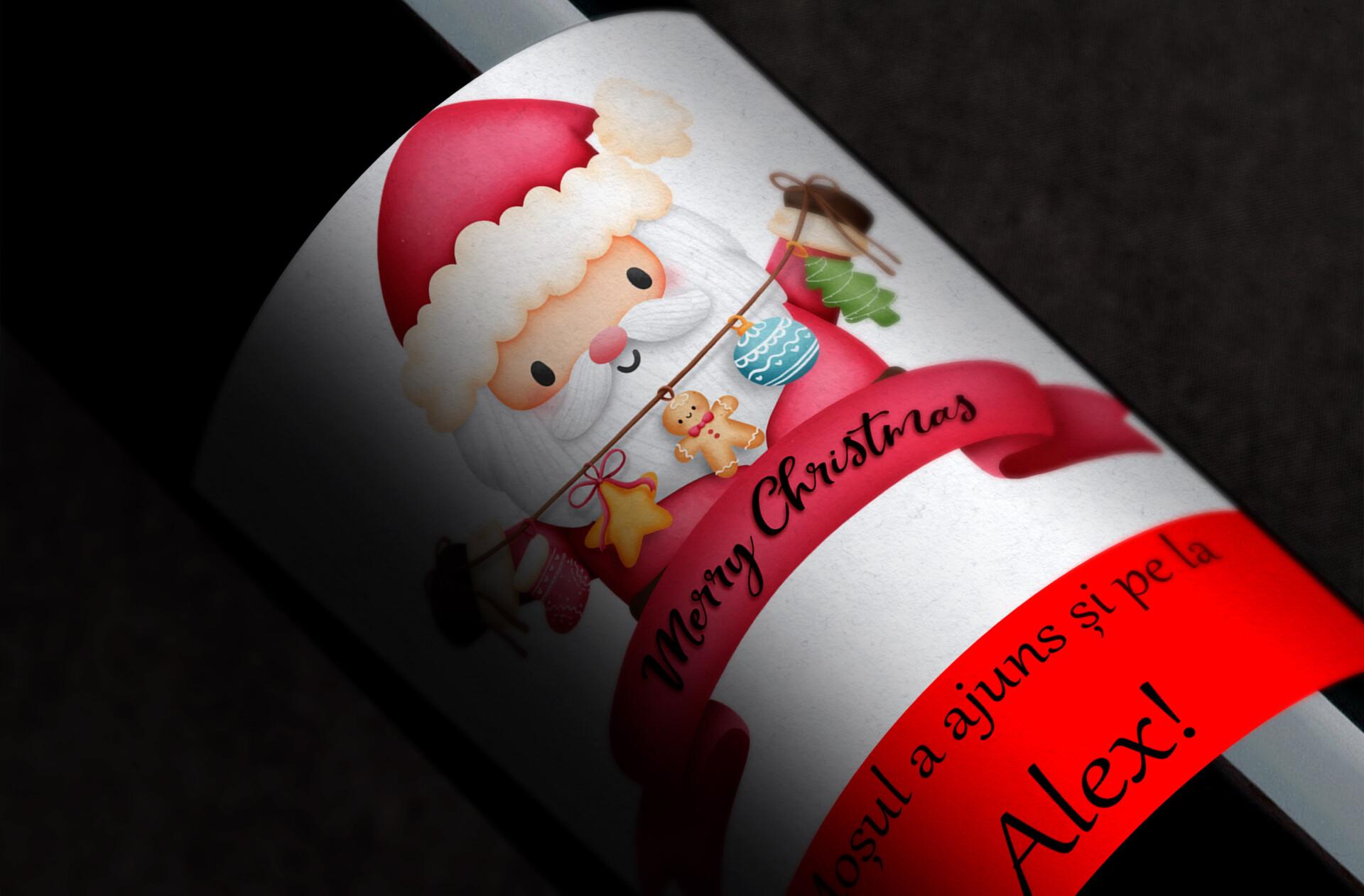 vin personalizat santa claus