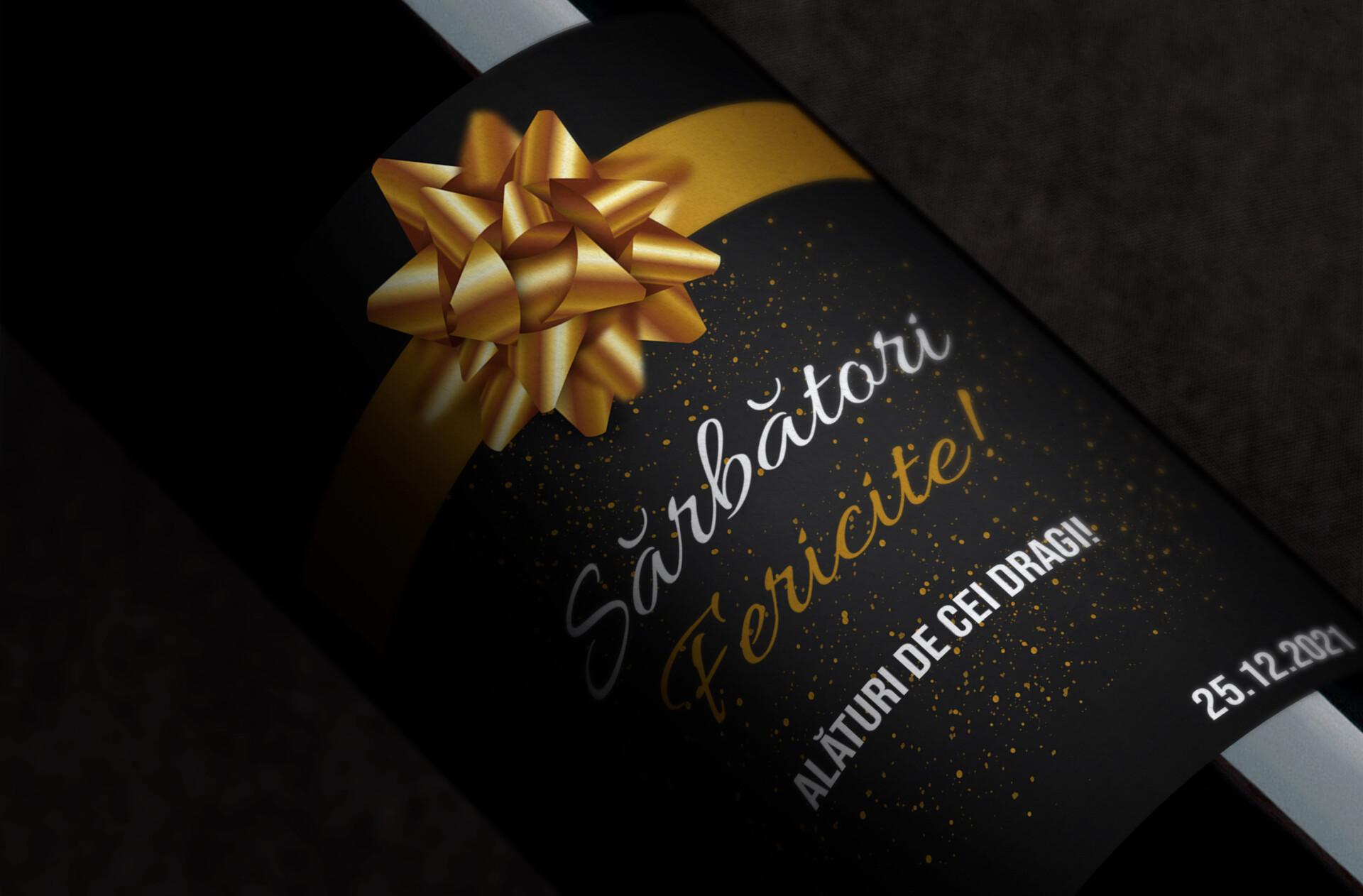 vin personalizat sarbatori fericite